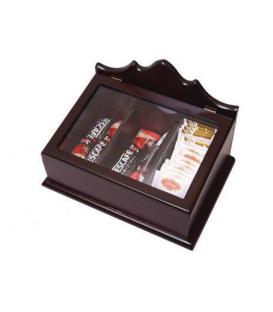 جعبه پذیرایی چوبی درب شفاف