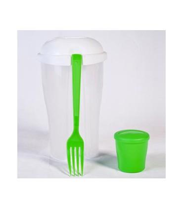 ماگ پلاستیکی به همراه چنگال