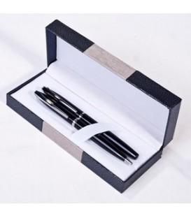 ست قلم شامل روان نویس مشکی و قرمز