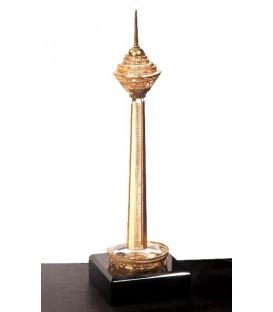 ماکت کریستالی طلایی (برج میلاد)