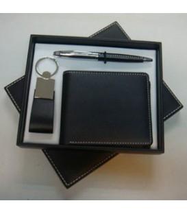 ست خودکار ،جاکلیدی و کیف جیبی