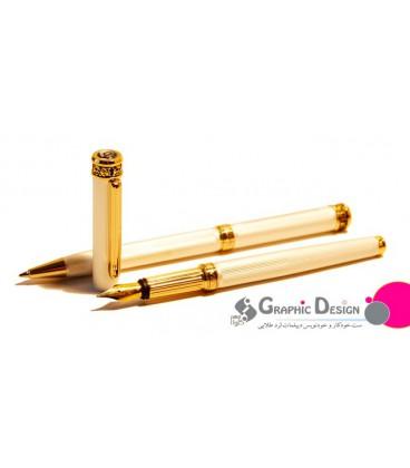 ست خودکار و خودنویس دیپلمات لرد طلایی